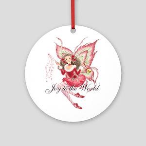 Xmas Ballet Fairy Ornament (Round)