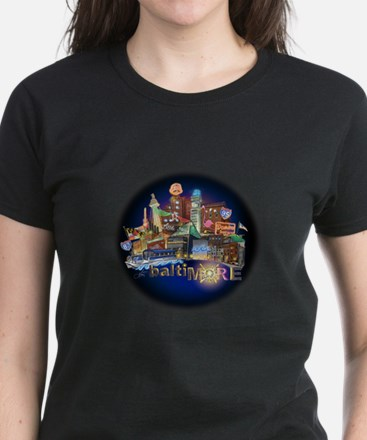 baltiMORE Spotlight Women's Dark T-Shirt