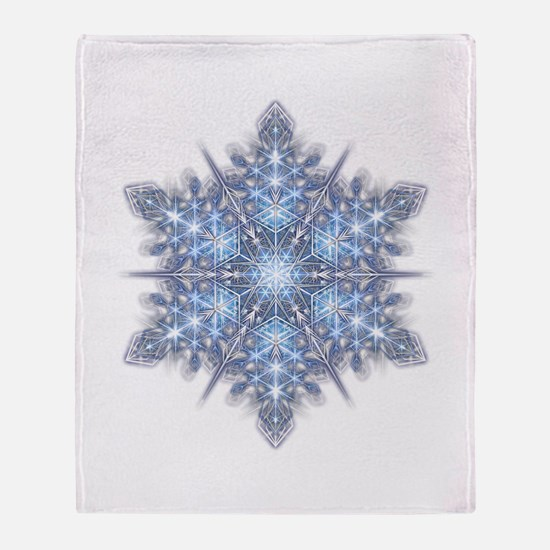 Snowflake 23 Throw Blanket