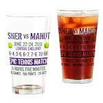 Isner Epic Match Drinking Glass