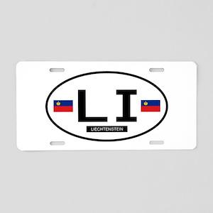 Lichtenstein 2F Aluminum License Plate