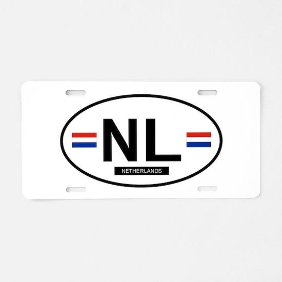 Unique Netherlands Aluminum License Plate
