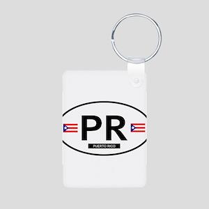 Puerto Rico Aluminum Photo Keychain