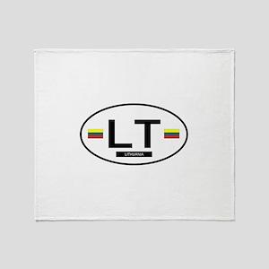 Lithiuania 2F Throw Blanket