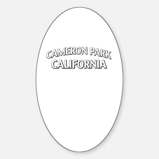 Cameron Park California Sticker (Oval)