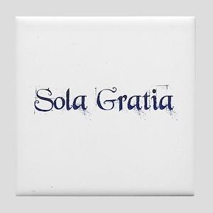 Sola Gratia Tile Coaster
