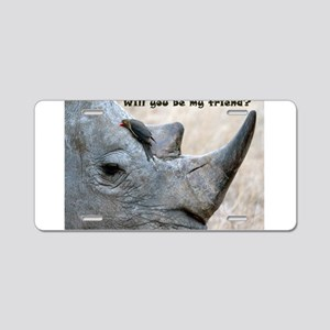 Will You Be My Friend? Aluminum License Plate
