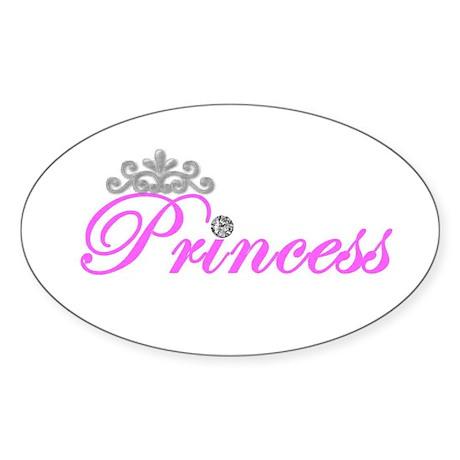 Princess Oval Sticker