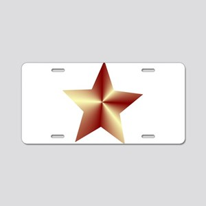 Bronze Star Aluminum License Plate
