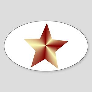 Bronze Star Sticker (Oval)