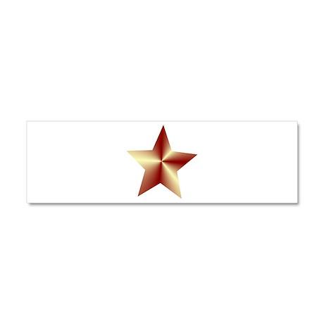 Bronze Star Car Magnet 10 x 3