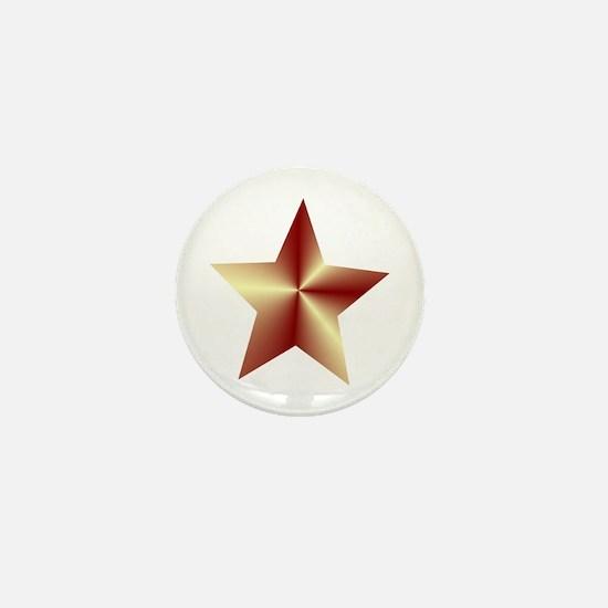Bronze Star Mini Button