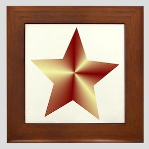 Bronze Star Framed Tile