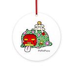 New year PeRoPuuu Ornament (Round)