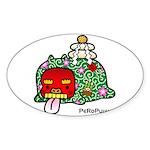 New year PeRoPuuu Sticker (Oval)