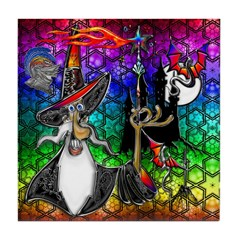 Mystical Fire Wizard Magician Tile Coaster