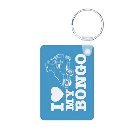 I Love My Bongo - Blue Aluminum Photo Keychain