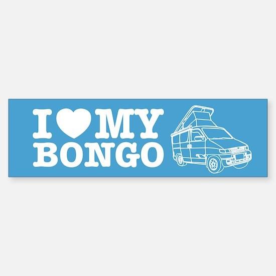 I Love My Bongo - Blue Sticker (Bumper)
