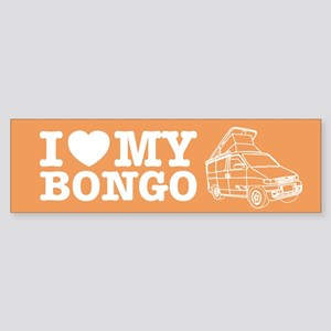 I Love My Bongo - Orange Sticker (Bumper)