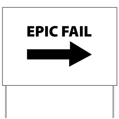 arrow yard signs