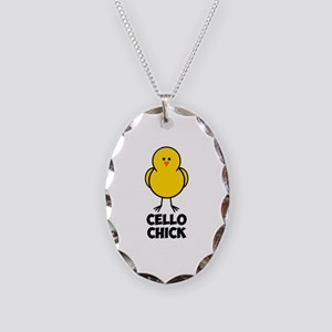 Cello Chick Necklace Oval Charm