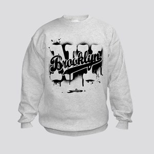 Brooklyn NY Graffiti Spray Kids Sweatshirt