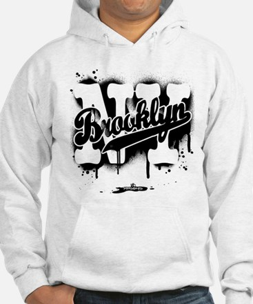 Brooklyn NY Graffiti Spray Hoodie Sweatshirt