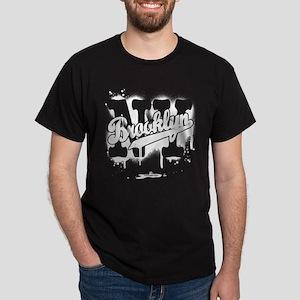 Brooklyn NY Graffiti Spray Dark T-Shirt