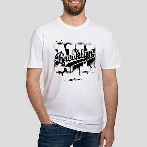 Brooklyn NY Graffiti Spray Fitted T-Shirt