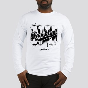 Brooklyn NY Graffiti Spray Long Sleeve T-Shirt