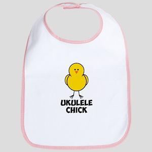 Ukulele Chick Bib