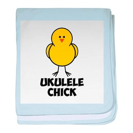 Ukulele Chick baby blanket