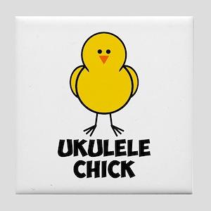 Ukulele Chick Tile Coaster