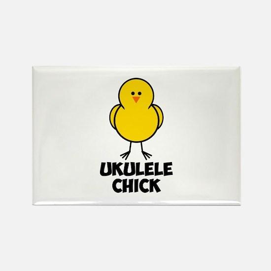 Ukulele Chick Rectangle Magnet