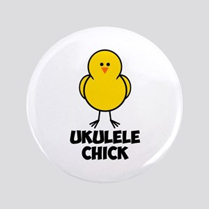 "Ukulele Chick 3.5"" Button"