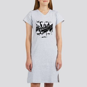 Brooklyn NY Graffiti Spray Women's Nightshirt