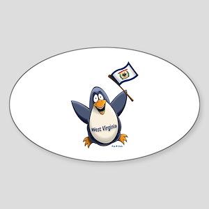 West Virginia Penguin Sticker (Oval)