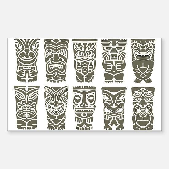 Cute Tiki Sticker (Rectangle)