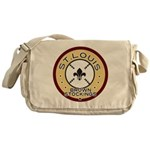Brown Stockings Logo Messenger Bag