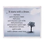 """""""It starts with a dream"""" Blanket"""