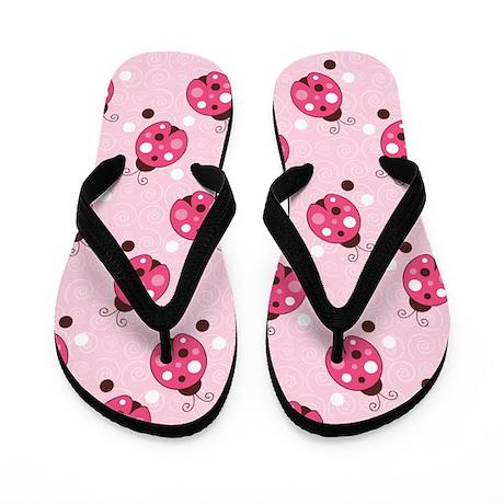 Ladybug Flip Flops Flip Flops (Light Pink)