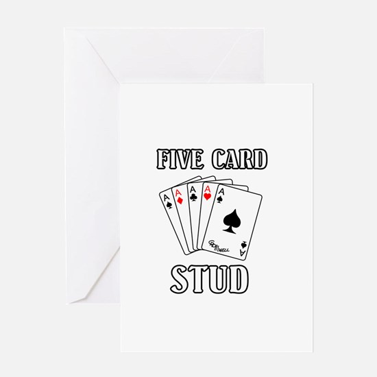 Five Card Stud Greeting Card