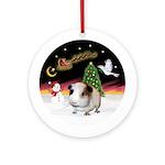 Night Flight - Guinea Pig #1 Ornament (Round)