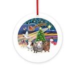 Xmas Magic & 3 Guinea Pigs Ornament (Round)
