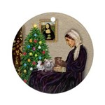 Whistler's Mothers Guinea Pigs Ornament (Round)