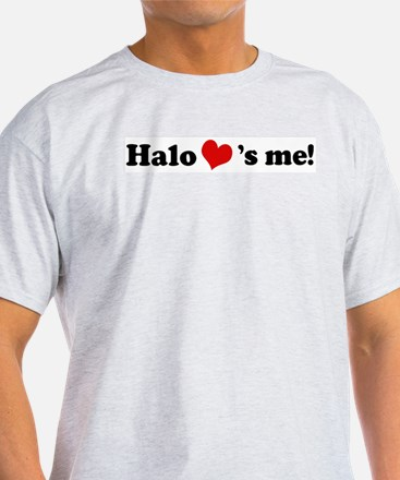 Halo loves me Ash Grey T-Shirt