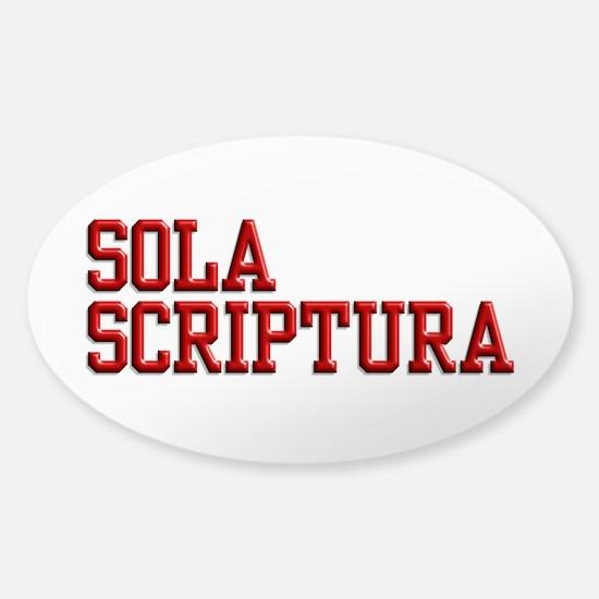 Sola Scriptura College Sticker (Oval)