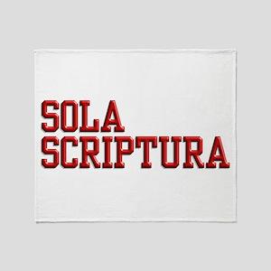 Sola Scriptura College Throw Blanket