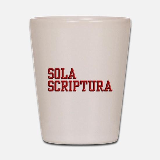 Sola Scriptura College Shot Glass