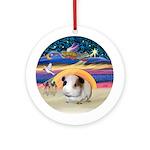 XmasStar - Guinea Pig #1 Ornament (Round)